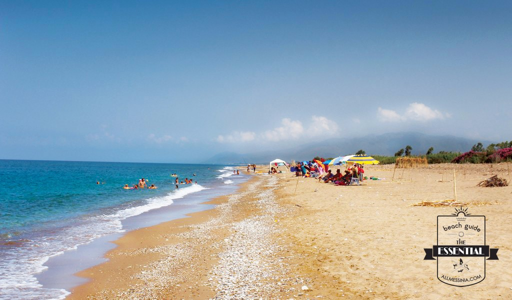 Elaia Beach Kyparissia - Family friendly sandy beach with tiny pebbles