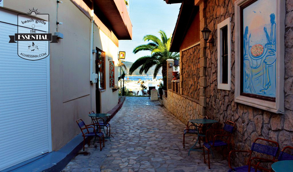 Finikounda beach - village streets