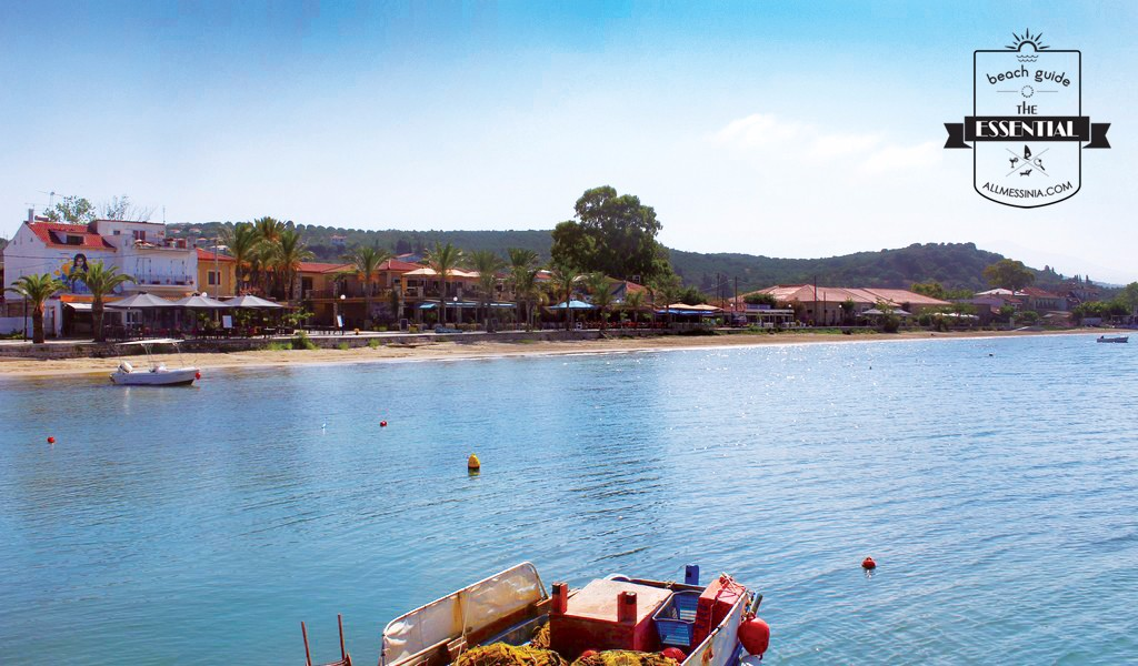 Gialova Bay- The sea front view of the village from the dock