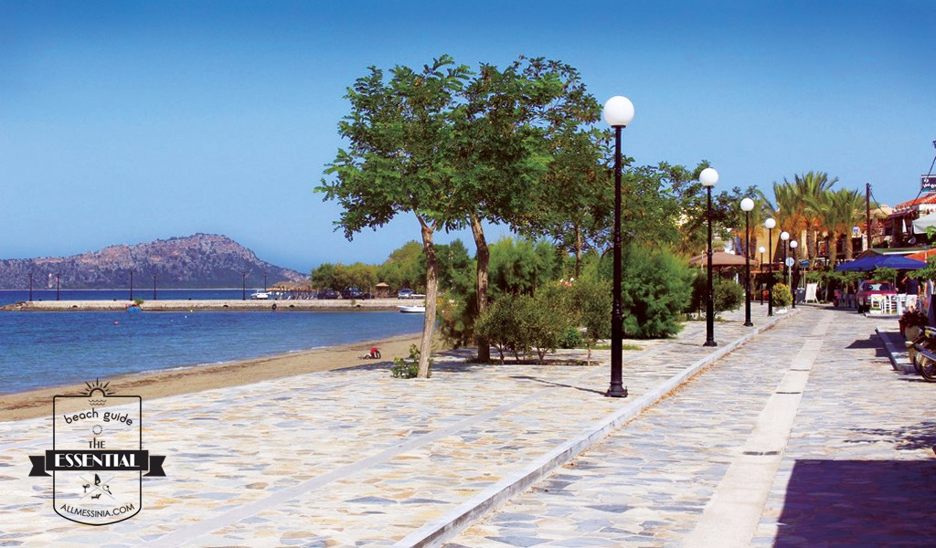 Gialova Bay- The promenade at Gialova