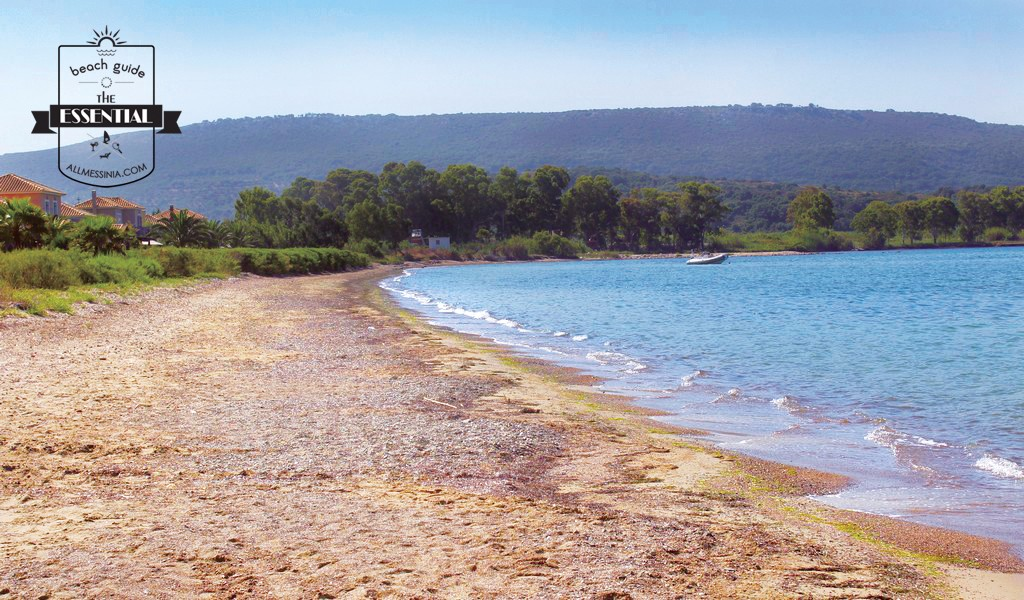 Gialova Bay- the beach at south end -near camping site