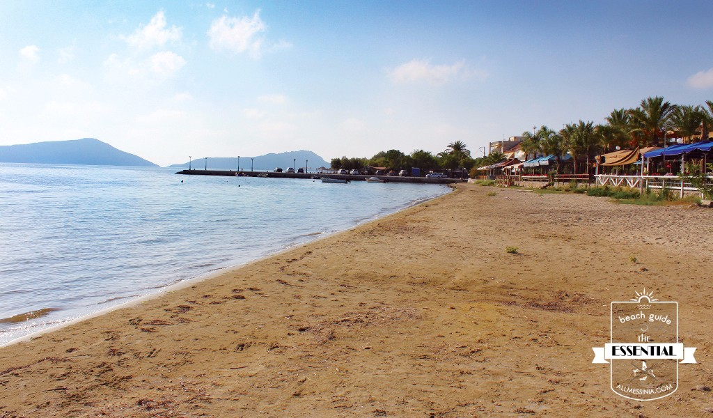 Gialova Bay- Thin sand and warm waters