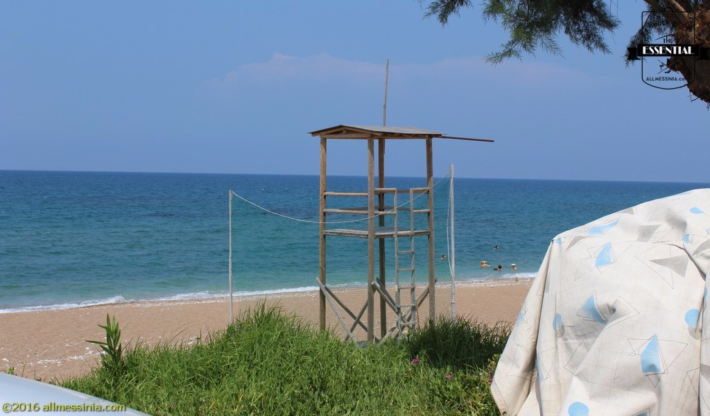 Kalo Nero Beach Kyparissia - Lifegurad tower