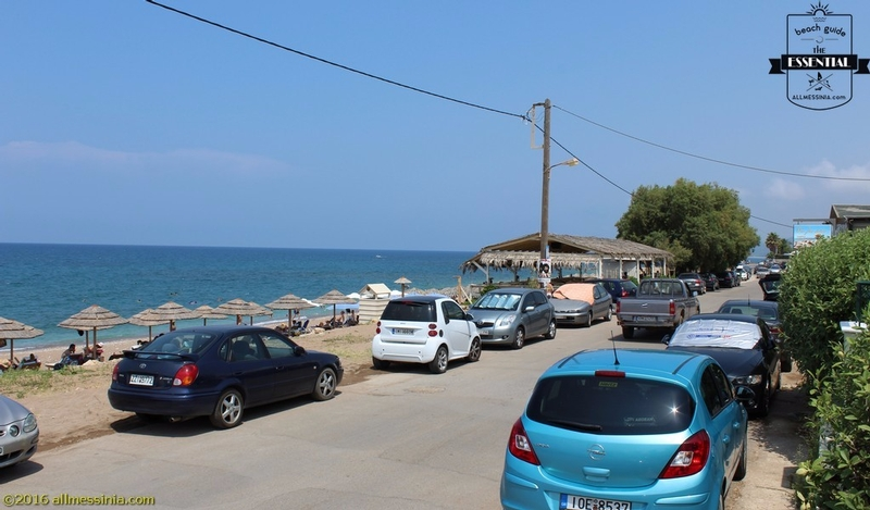 Kalo Nero Beach Kyparissia - View from the road