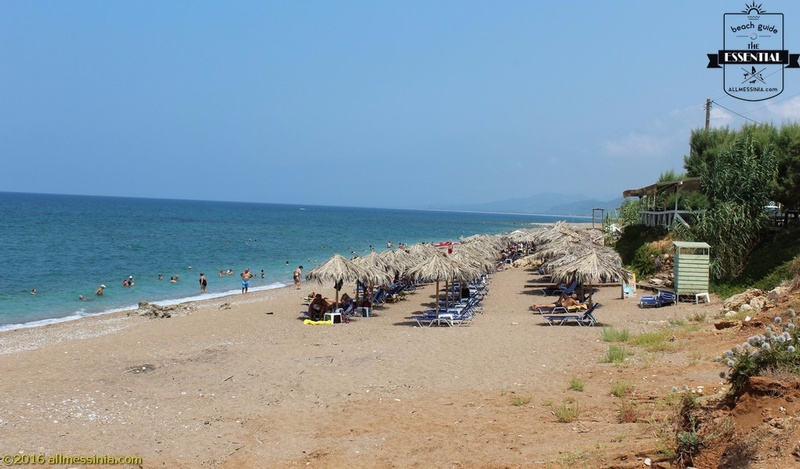 Kalo Nero Beach Kyparissia - Changing cabin and sunbeds part 2