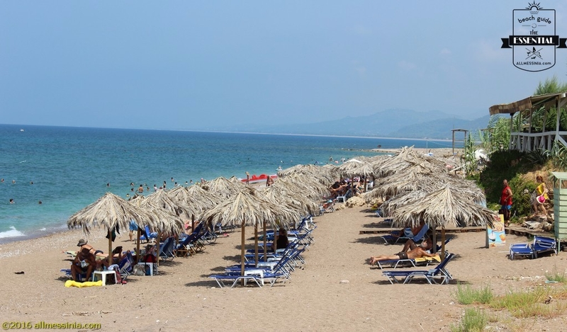 Kalo Nero Beach Kyparissia - Changing cabin and sunbeds part 1
