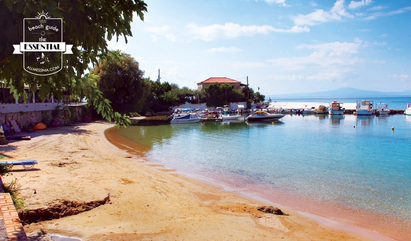 Stoupa Beach - Small boats and restaurant 1
