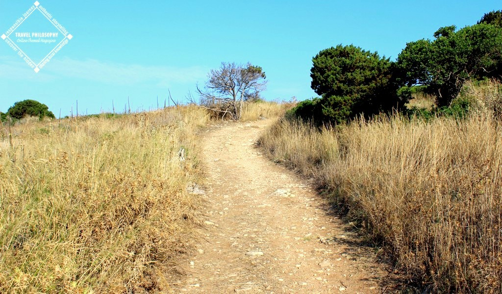 Old Navarino Castle - the path still relatively easy
