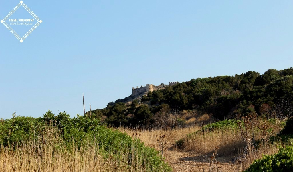 Old Navarino Castle - the view while reaching the uphill trail