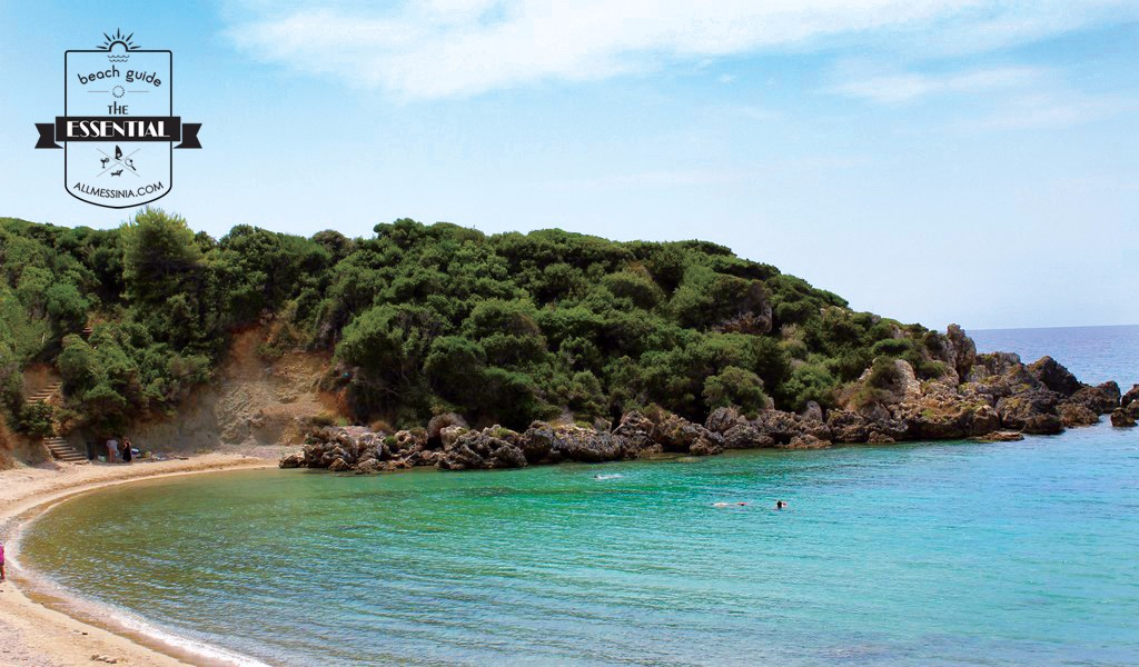 Vromoneri beach - A peaceful crescent shaped beach, West Messinia