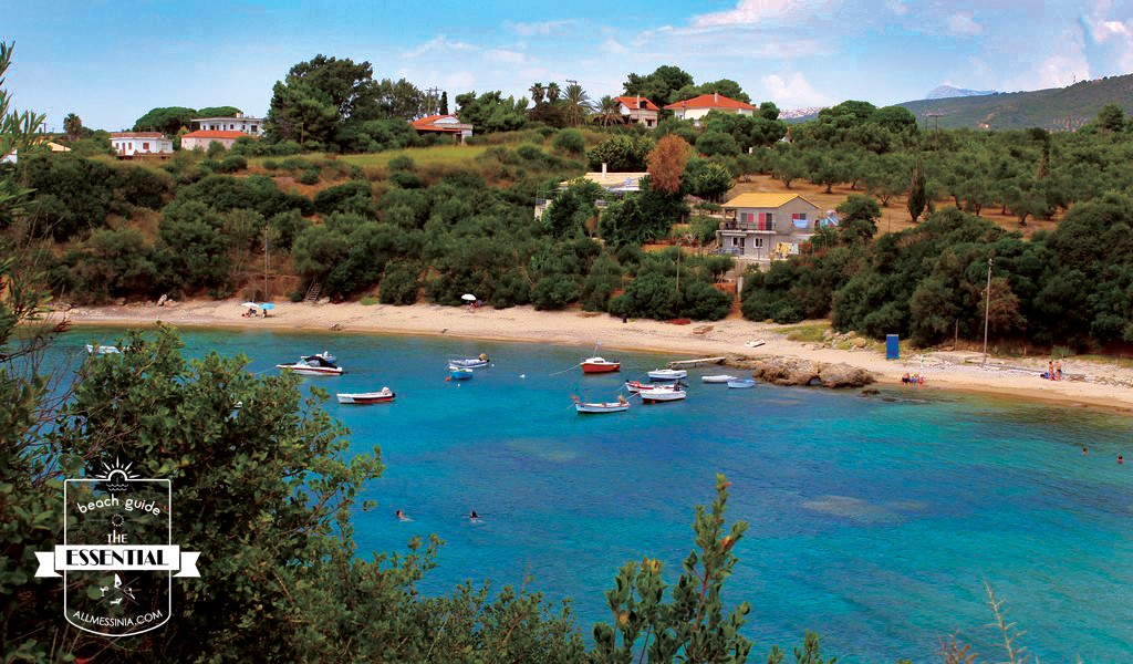 Vromoneri beach - a peaceful cove in West Messinia