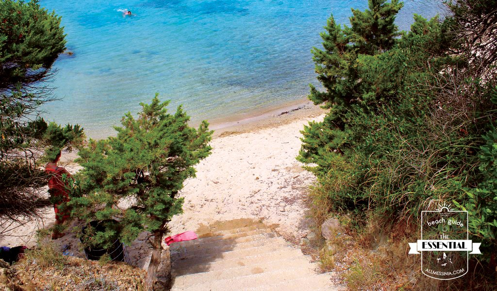 Vromoneri beach -  The stairs near the parking at the south part1