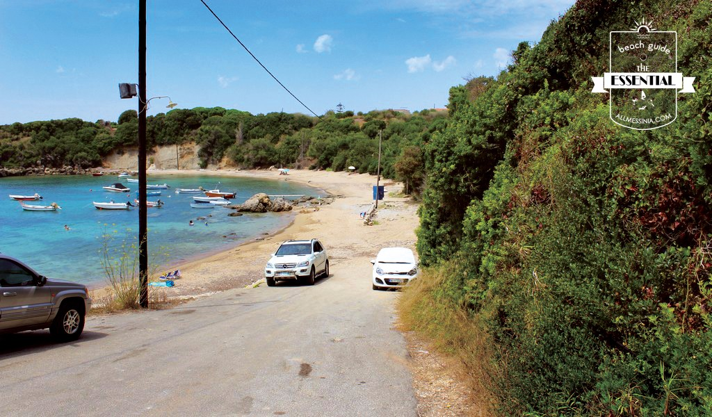 Vromoneri beach - The road access very close to the beach